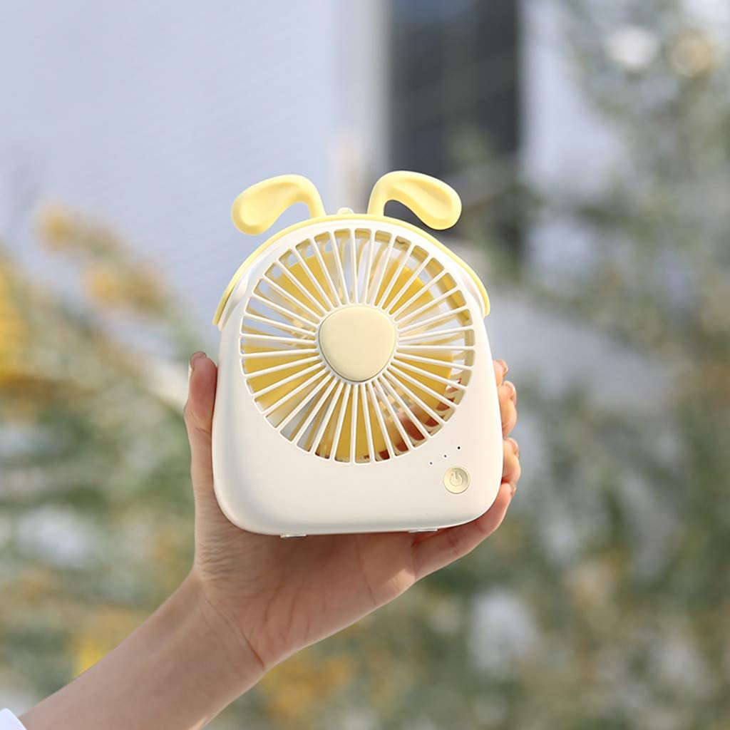 Yamart Small Pocket Personal Fan Mini Size Portable Hand Held Electric Cooling for Women Kids Home Office Outdoor Travel Camping USB Rechargeable Battery Operated