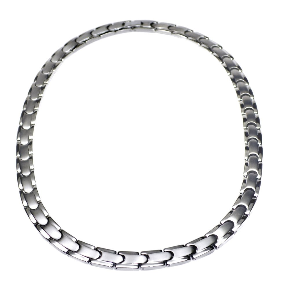 Accents Kingdom Men's Tempo Titanium Magnetic Power Golf Link Necklace 22'' by Accents Kingdom
