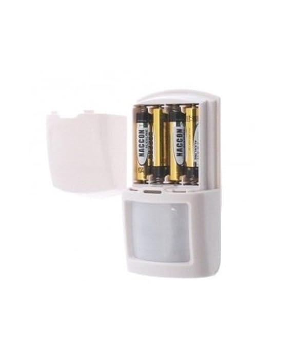 Sensor de movimiento PIR inalámbrico volumétrico para alarmas: Amazon.es: Bricolaje y herramientas