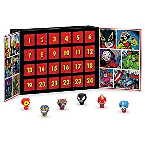 Countdown the holidays with this Marvel Advent calendar from Funko! This calendar contains pocket Pop's of all of your favorite Marvel characters. Collect all Marvel product from Funko!