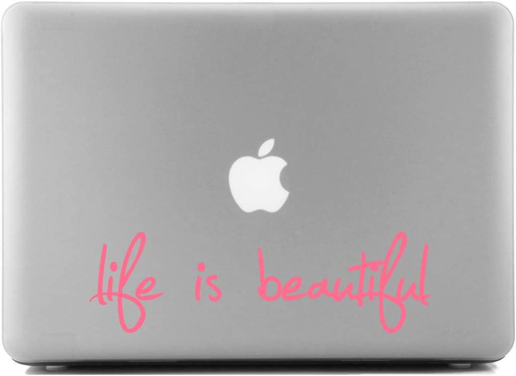 Life is Beautiful Pink Misc Laptop Skin Decal