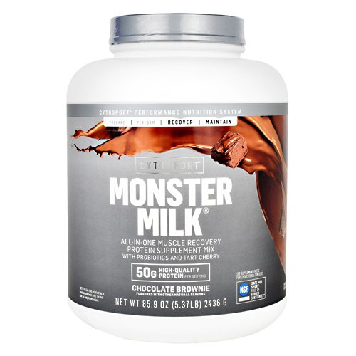 Cytosport Monster Milk All-in-One Muscle Recovery Protein Supplement Mix Chocolate Brownie 5.37 LB ()