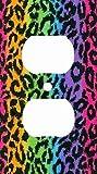 Rainbow Leoaprd Skin Print Decorative Outlet Cover