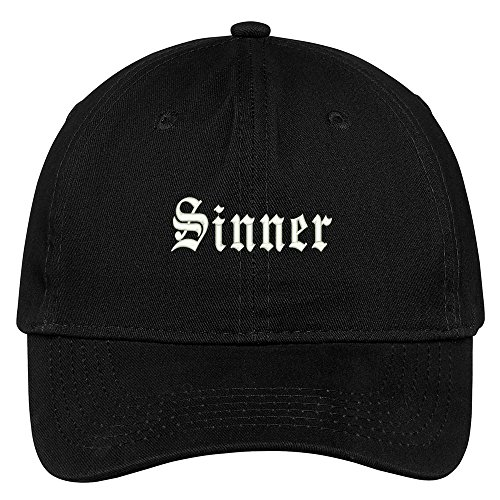 Sinner Embroidered Low Profile Adjustable Cap Dad Hat - (Sinner Cap)