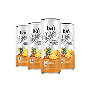 Bai Bubbles, Sparkling Water, Peru Pineapple, Antioxidant Infused Drinks, 11.5 Fluid Ounce Cans, 6 count