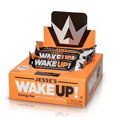 Cheap Jesse's WakeUP! Energy Bars (1 Bar = 3 Espressos) – All Natural Caffeine, Dark Chocolate Rice Crisp Bar (100 Calories) – Vegan, Kosher, Soy Free, Gluten Free, Nut Free, Non-GMO (6 Count)