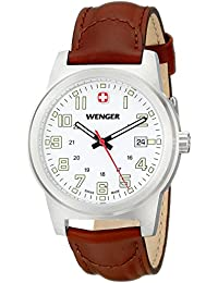 Men's 72801 Analog Display Swiss Quartz Brown Watch