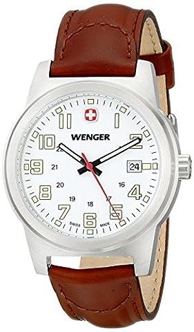 Wenger Men's 72801 Analog Display Swiss Quartz Brown Watch (Swiss Mens Classic)