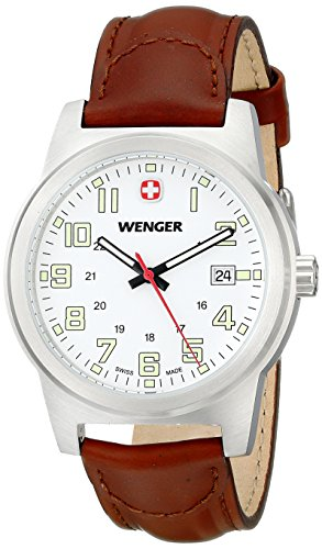 Wenger Men's 72801 Analog Display Swiss Quartz Brown Watch