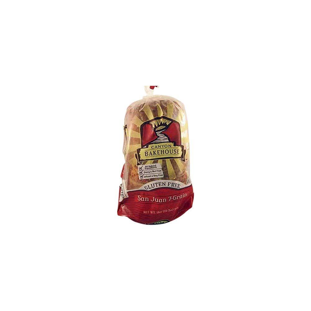 Canyon Bakehouse 7 Grain San Juan Bread, Gluten-Free, 18 oz (Frozen)