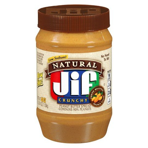 Jif Natural Crunchy Peanut Butter 40 oz