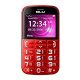 BLU JOY - 2.4'', Factory Unlocked Phone - Red