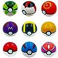 Kool KiDz 9 Pieces Different Style Ball +9 Pieces Figures Plastic Super Anime Figures Balls for Pokemon Kids Toys Balls by Pokemon Balls