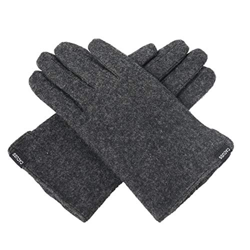 CACUSS Gloves Women Autumn and Winter Knit Gloves for Women Warm Touch Screen Gloves Wear-resistant Cycling Travel Windproof Finger Gloves Ladies (Dark gray) by CACUSS