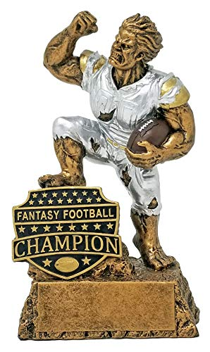 Decade Awards Fantasy Football League Champion Monster Trophy/FFL Winner Beast Award  6.5 Inch Exclusive,gold, silver