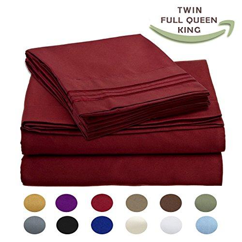 Egyptian Comfort Wrinkle BURGUNDY Pillowcases
