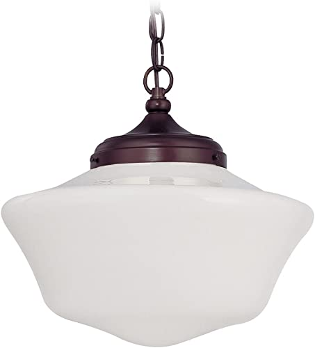 14-Inch Schoolhouse Pendant Light with Chain