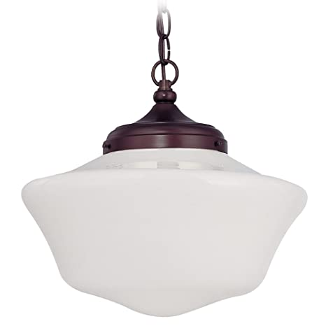 14 inch schoolhouse pendant light with chain amazon 14 inch schoolhouse pendant light with chain aloadofball Gallery