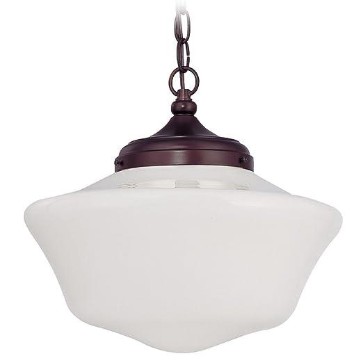 Amazon.com: 14-Inch Schoolhouse lámpara de techo colgante de ...