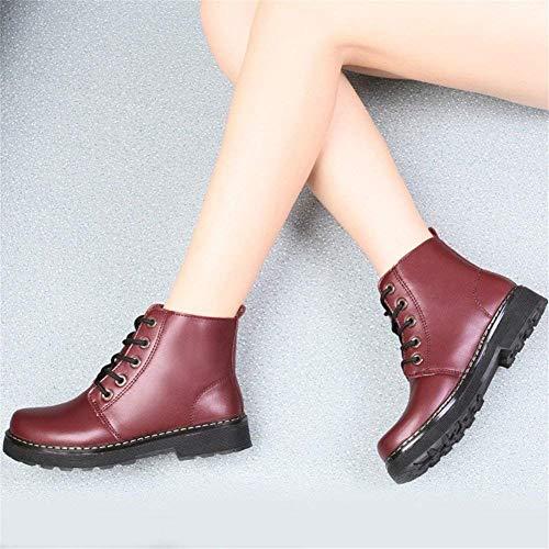 De Zapatos 37 Mujer Planas Deed Botas Eu Casuales Cordones Con 58qwwv7Y