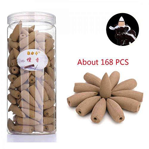 168PCS Backflow Incense Cones Sandalwood Scent Special Incense Cone Osmanthus Jasmine Lavender Fragrant Cone (Sandalwood Scent) (Incense Cone Sandalwood)
