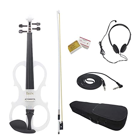 4//4 Electric Violin with Headphone Gig Bag Rosin Bow Cable for Beginner