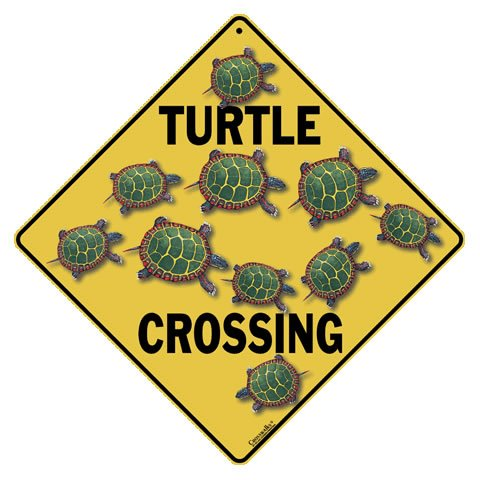 Turtle Crossing Sign - Decorative Signs Yard