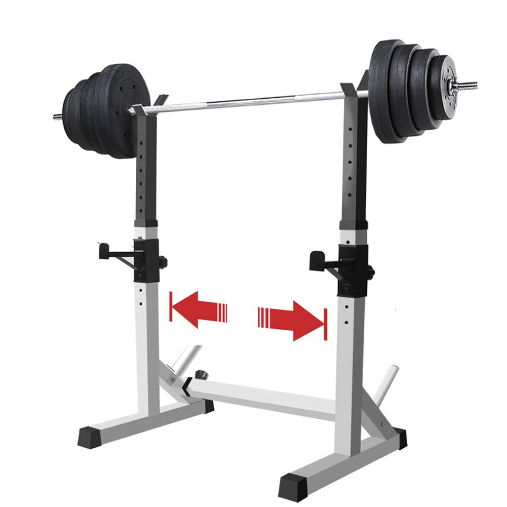 EFGS Adjustable Squat Rack, Multifunction Sturdy Bench Press Equipment, Household Barbell Stand by EFGS