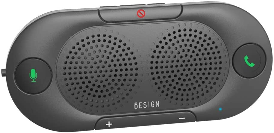 Besign BK06 Manos Libres Bluetooth para Coche, Altavoz Bluetooth Coche, Potente 2 X 2W, Soporta GPS y Música, Auto Encendido Apagado, Conectividad de Doble Enlace y Clip Visor