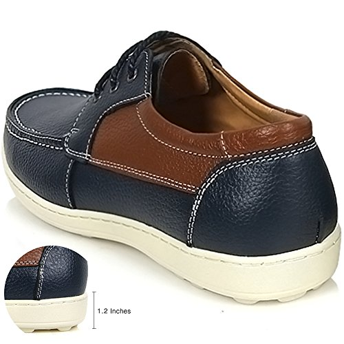 Formal up Lace Shoes Blue Mens Dress Oxford Casual New Sneakers Boat Leather Y1Tqa