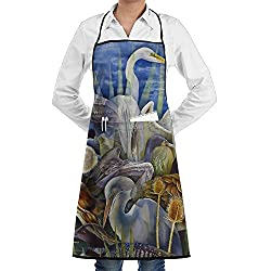 Wild Waterfowl Adjustable Kitchen Cooking Apron For Women Men Chef Restaurant Home Kitchen Apron Bib With 2 Pockets For Cooking Grill And Baking Crafting Gardening Bbq