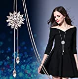 Women's Pendant Charm Link Chain Sweaters Necklace mujer Jewelry Gifts