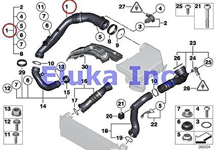amazon com bmw genuine air duct air duct without mass airflow rh amazon com BMW 1573 1772Cc Engine bmw 1 series engine diagram