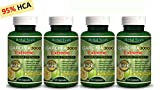 4 x BOTTLES 300 GARCINIA CAMBOGIA Capsules 3000mg Daily HCA 95% Fat Weight Loss