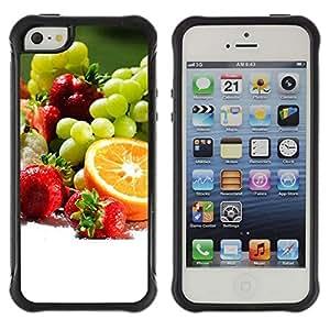 LASTONE PHONE CASE / Suave Silicona Caso Carcasa de Caucho Funda para Apple Iphone 5 / 5S / Fruit Macro Fruit Collection
