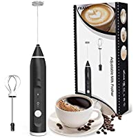 Milk Frother, USB Rechargeable Electric Foam Maker with 2 Stainless Steel Whisk, TOTOBAY Handheld 3 Speeds Egg Beater…