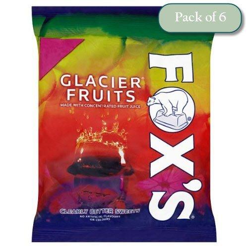 Foxs Glacier Fruits Bag, 4.6oz/130g (Pack of 6)