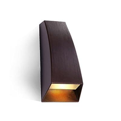 L'Éclairage Supérieur Et Inférieur De La Paroi Extérieure De L'Eau Moderne Minimaliste Des Feux D'Éclairage Ont Été Mur Jardin Villa Lumière Led D'Entrée, Couloir