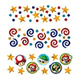 Super Mario Brothers  Birthday Party Confetti Mix Value Pack Decorations, Foil, 1 2 Ounces