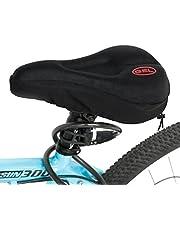 Kany Gel Bike Sattel, Fahrrad bequem Sitzkissen Pad Bezug extra Komfort Gel Pad Kissenbezug geeignet für Mountain Bike Sitze und Road Bike Sattel schwarz