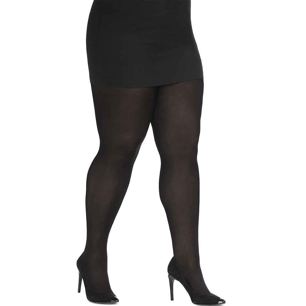 Just My Size by Hanes Womens Blackout Tight, 88906, 1X/2X, Black