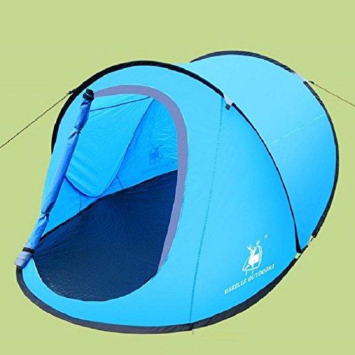 ZC&J 2 Personen automatische Zelte, ultraleichtes bewegliches schnelles Zelt, kampierend, Strand, wild, wandernd, bewegliches im Freienzelt
