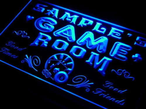 PL1078-b Wood's Game Room Man Cave Beer Bar Neon Light Sign