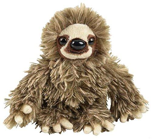 Wildlife Tree 6  Baby Three Toed Sloth Stuffed Animal Zoo Plush
