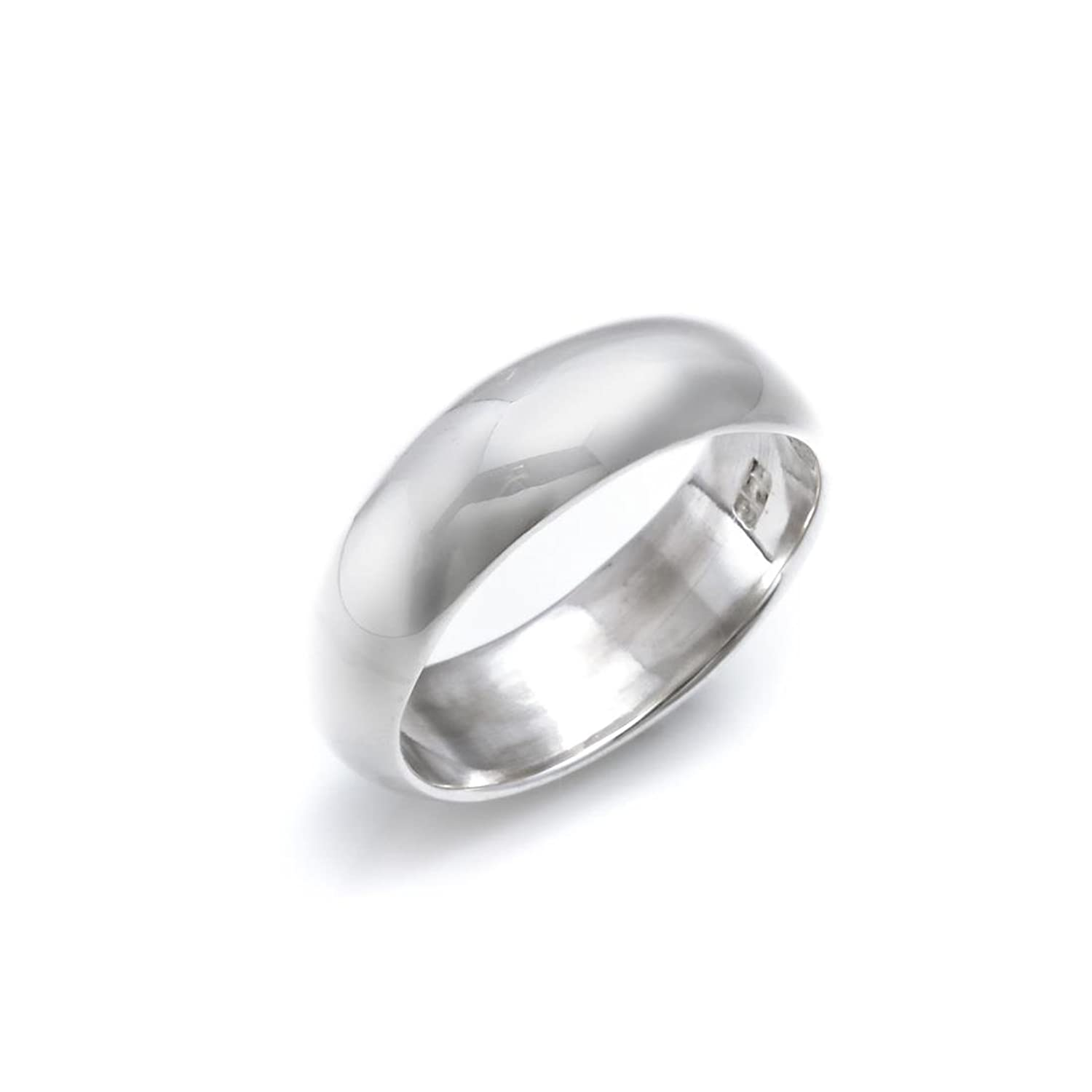 81stgeneration Sterling Silver Plain .925 Ring Band 3 mm Engagement Wedding Thumb Toe Ring Oe0Si