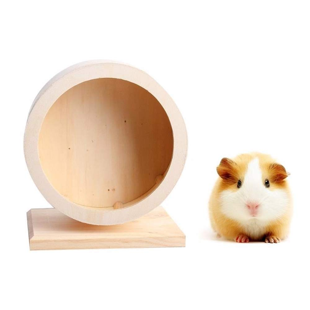 daise Hamster Cage Small Pet Wooden Exercise Running Wheel Pet Toy
