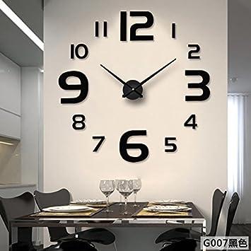 CSLL réplica Reloj de Pared Reloj de Moda Bricolaje Watch Reloj silencioso, Negro: Amazon.es: Hogar