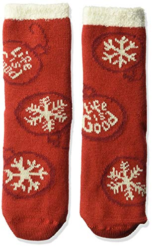 Good Ornament - Life is Good Womens Snuggle Slipper Sock Collection,Ornament,Americana Red
