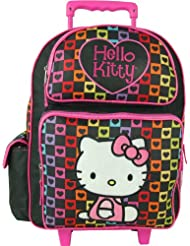 Sanrio Hello Kitty Rolling Backpack - Large Luggage Backpack