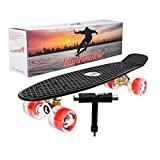 Landwalker 22' Light Up Skateboard with Colorful LED Light Up Wheels-Ready to Ride